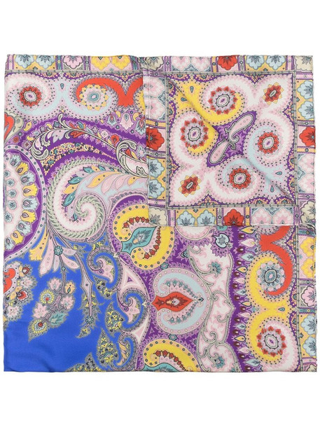 Etro paisley print scarf in blue