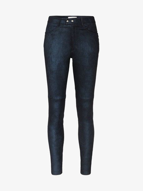 Faith Connexion high waist skinny trousers in blue