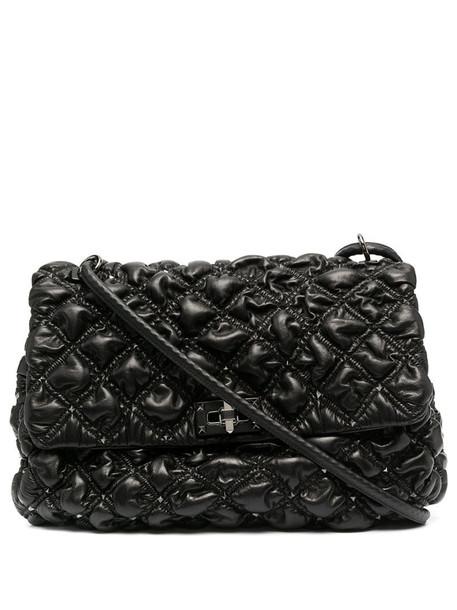 Valentino Garavani quilted Rockstud shoulder bag in black