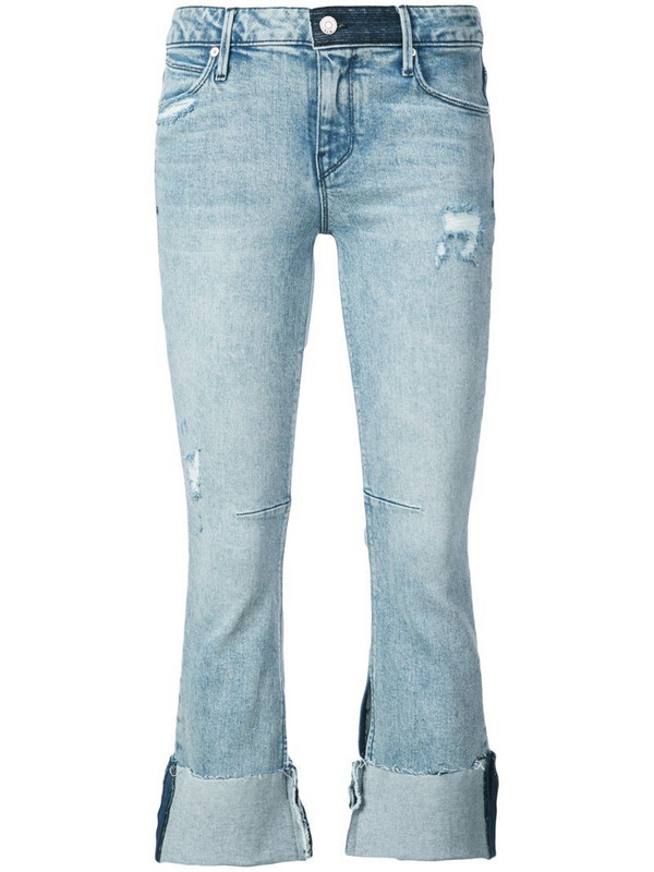 RtA Prince cropped jeans in blue