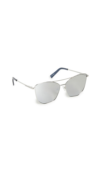 Le Specs Primeval Alt Fit Sunglasses in silver