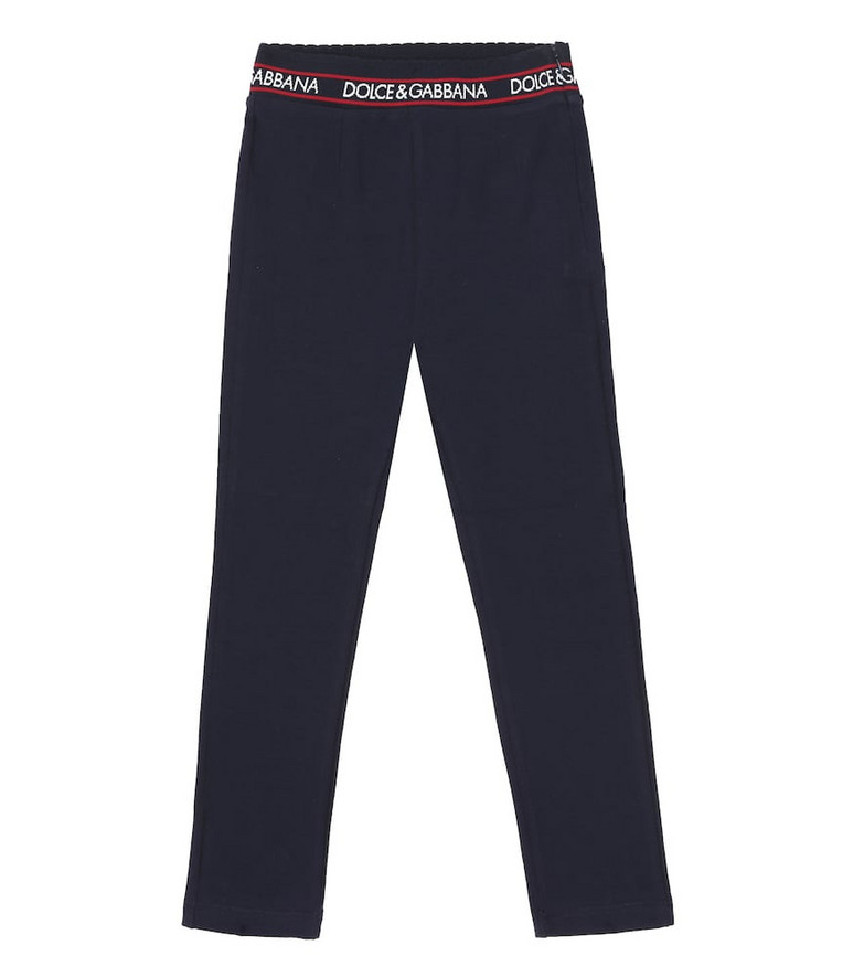 Dolce & Gabbana Kids Stretch-cotton leggings in blue