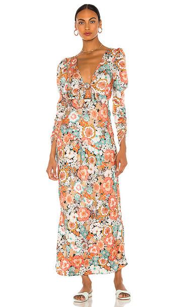 For Love & Lemons Polly Maxi Dress in Rose