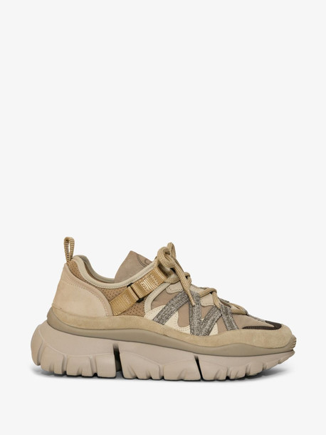 Chloé Chloé beige and grey blake low top sneakers