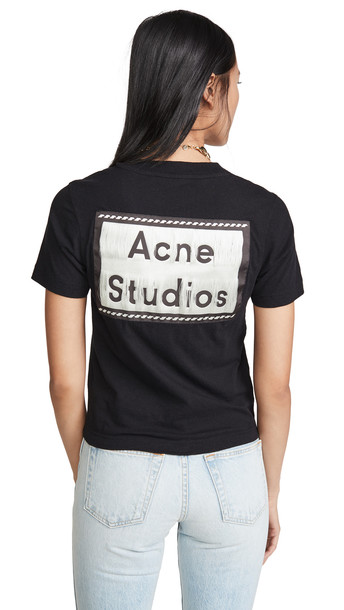 Acne Studios Ebally Reverse Label Tee in black