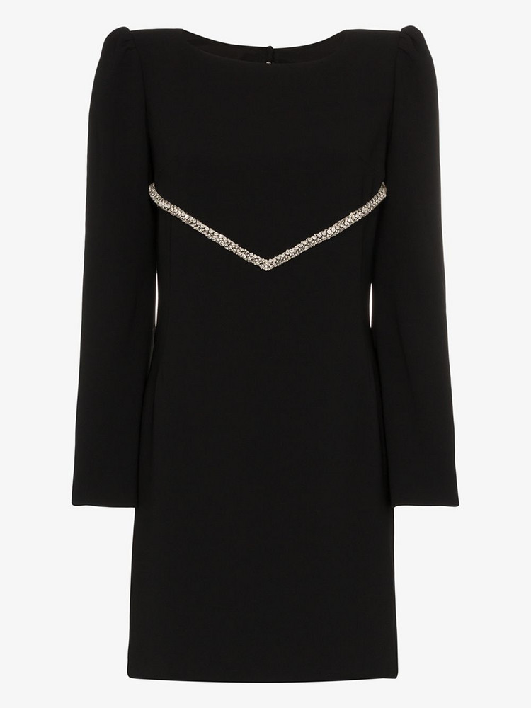 Haney Audrey crystal embellished mini dress in black