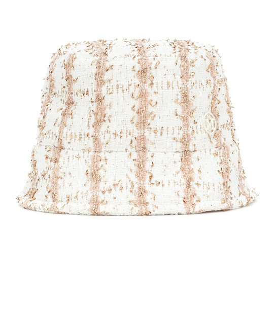 Maison Michel Exclusive to Mytheresa – Axel tweed bucket hat in white