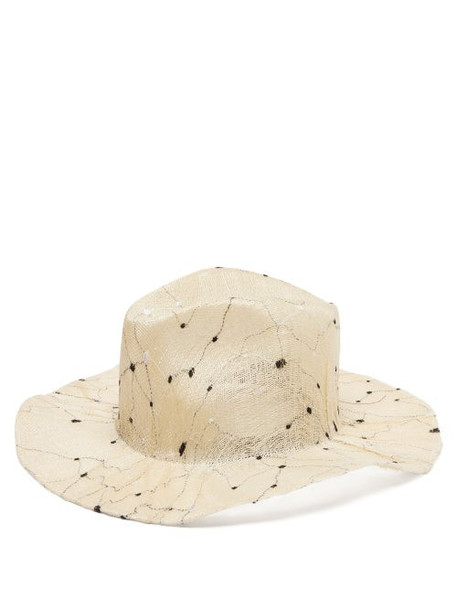 Reinhard Plank Hats - Norma Embroidered-sisal Hat - Womens - White Multi