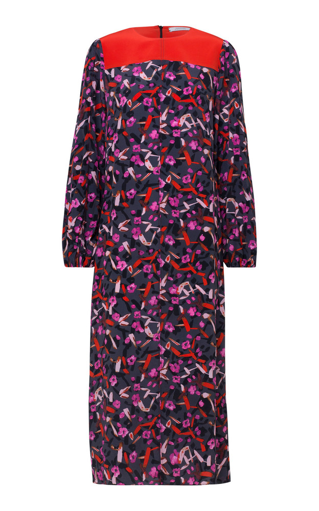 Dorothee Schumacher Abstract Flowering High Neck Printed Dress in multi