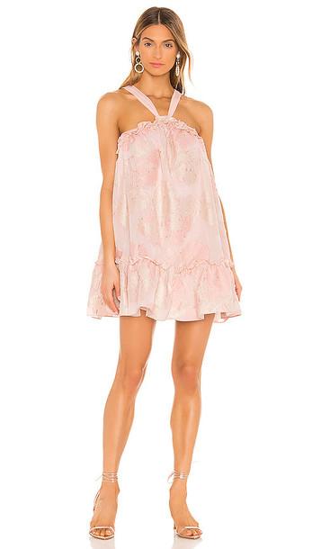 NBD Merie Mini Dress in Blush in pink