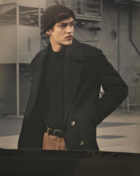 pants coat sweater hat