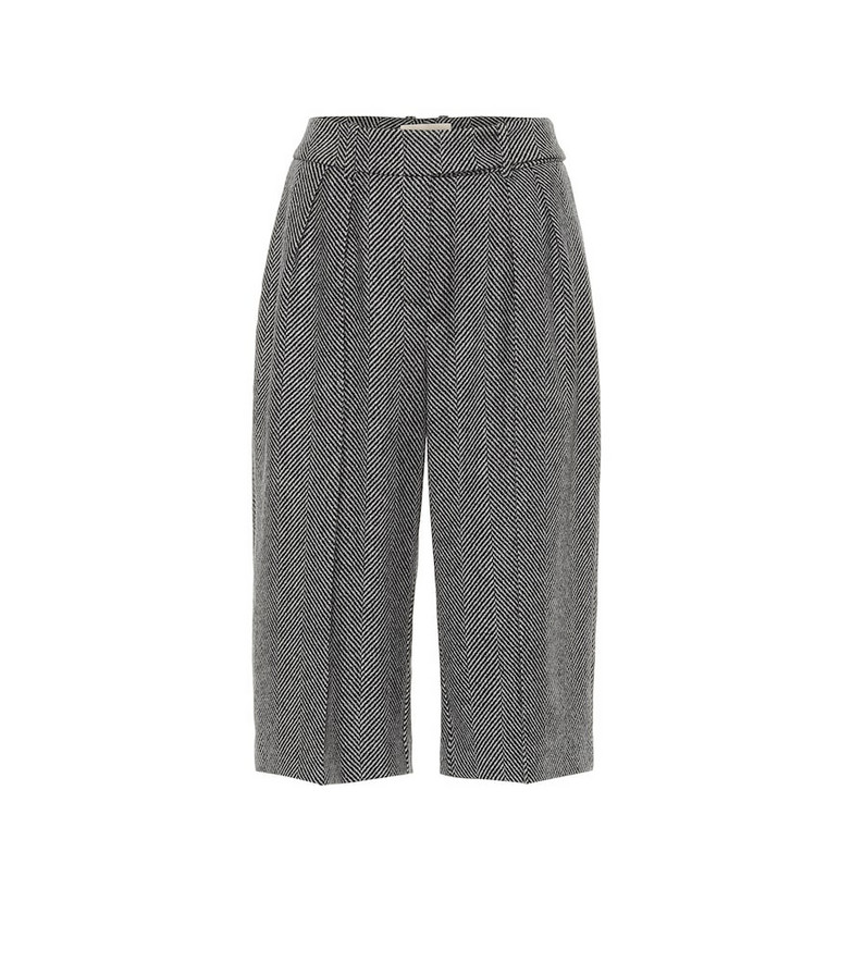 Alexandre Vauthier Wool herringbone culottes in grey
