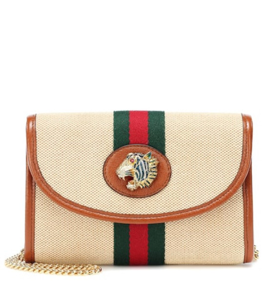 Gucci Rajah Mini canvas shoulder bag in beige
