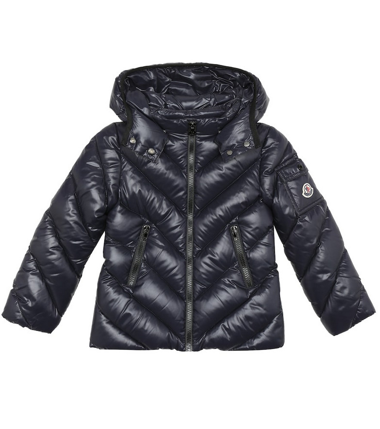 Moncler Enfant Brouel quilted down jacket in blue