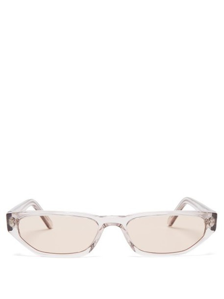 Andy Wolf - Tamsyn Cat Eye Acetate Sunglasses - Womens - Clear