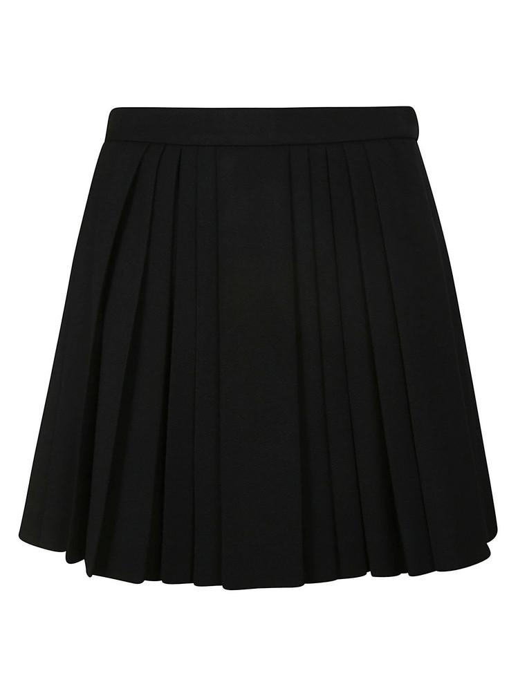 Celine Pleated Mini Skirt in black