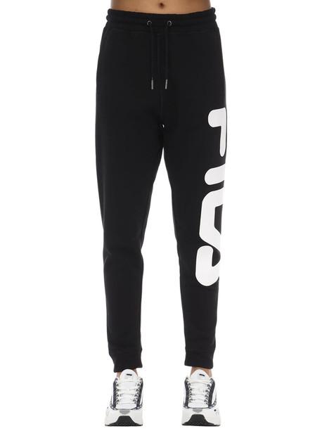 FILA URBAN Logo Cotton Blend Sweatpants in black