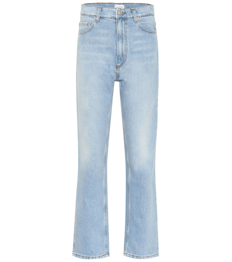Magda Butrym Cropped high-rise flared jeans in blue