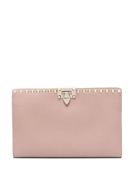 Valentino Garavani twist-lock Rockstud clutch bag in pink