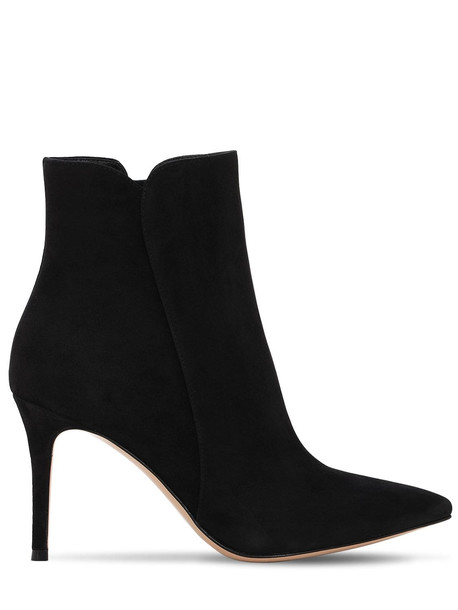 GIANVITO ROSSI 85mm Levy Suede Ankle Boots in black