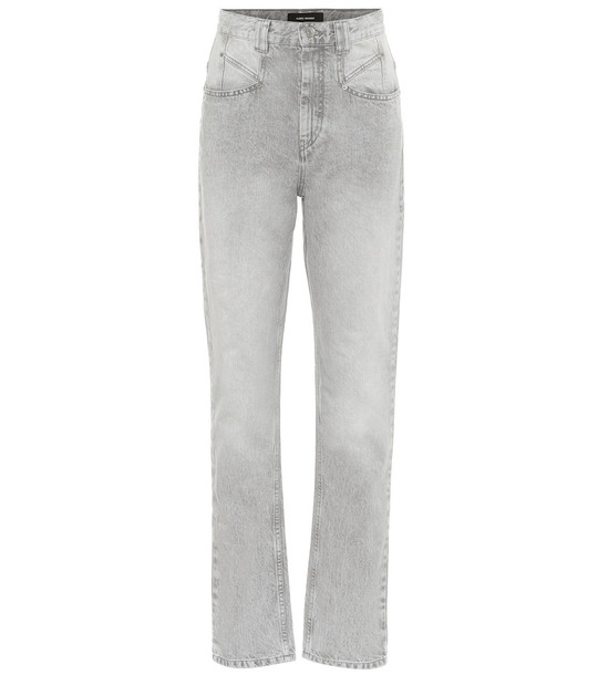 Isabel Marant Dominic high-rise straight jeans in grey