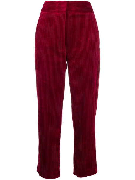 Vanessa Bruno corduroy trousers in red