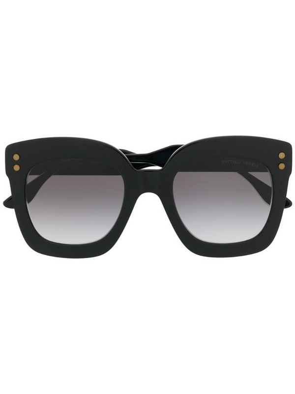 Bottega Veneta Eyewear oversized-frame sunglasses in black