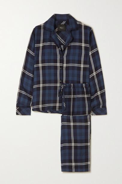 Rails - Clara Checked Flannel Pajama Set - Blue