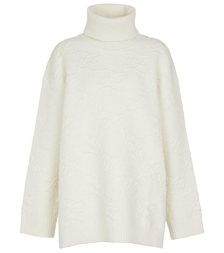 FENDI Logo turtleneck sweater in white