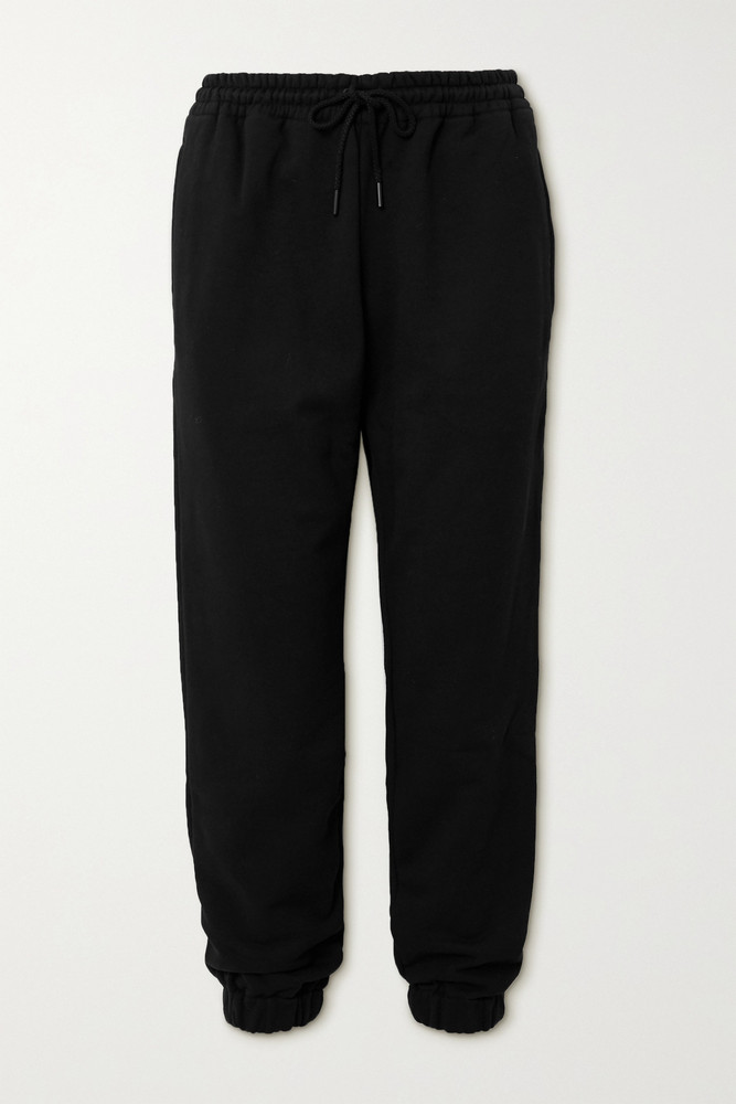 WARDROBE.NYC WARDROBE. NYC - Cotton-jersey Track Pants - Black