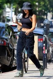 pants,vanessa hudgens,celebrity,crop tops,top