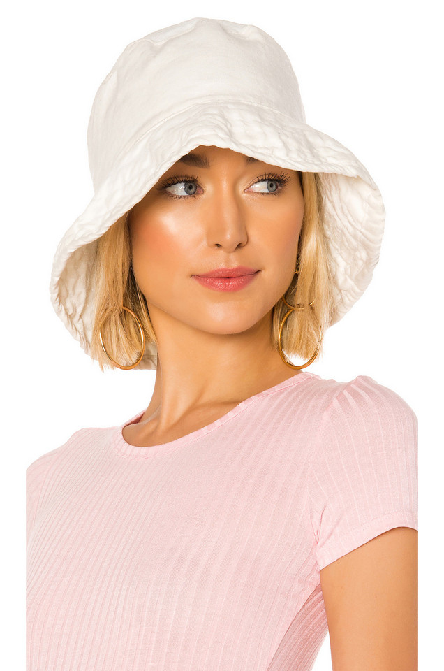 Hat Attack Washed Linen Crusher Hat in ivory