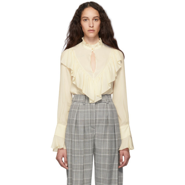 See by Chloe Off-White Crepe de Chine Blouse
