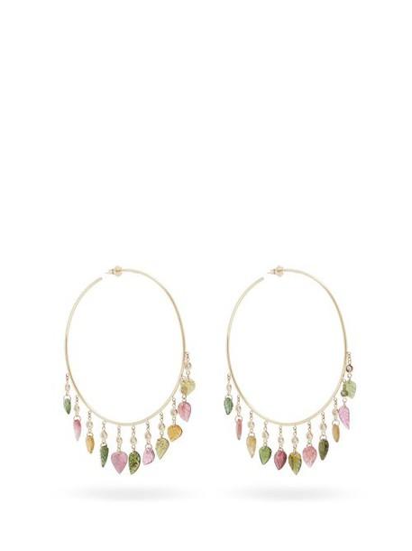 Jacquie Aiche - Diamond, Tourmaline & Gold Earrings - Womens - Multi