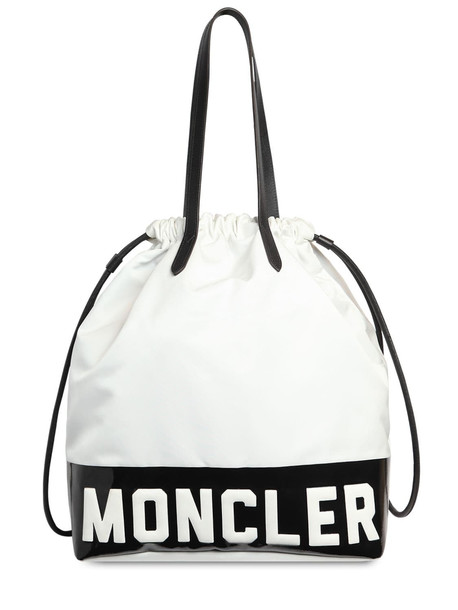 MONCLER Flamenne Shopping Bag in black / white