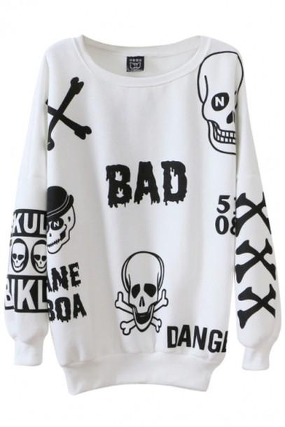 sweater skull sweater badass