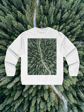 sweater,sweatshirt,streetstyle,streetwear,top,top blogger lifestyle,white,white sweater,photo print,aerial print,lifestyle,traveling,traveler,photography print,photograph tshirt