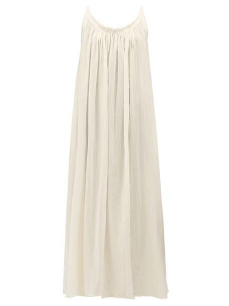 Loup Charmant - Scoop Back Cotton Gauze Maxi Dress - Womens - Ivory