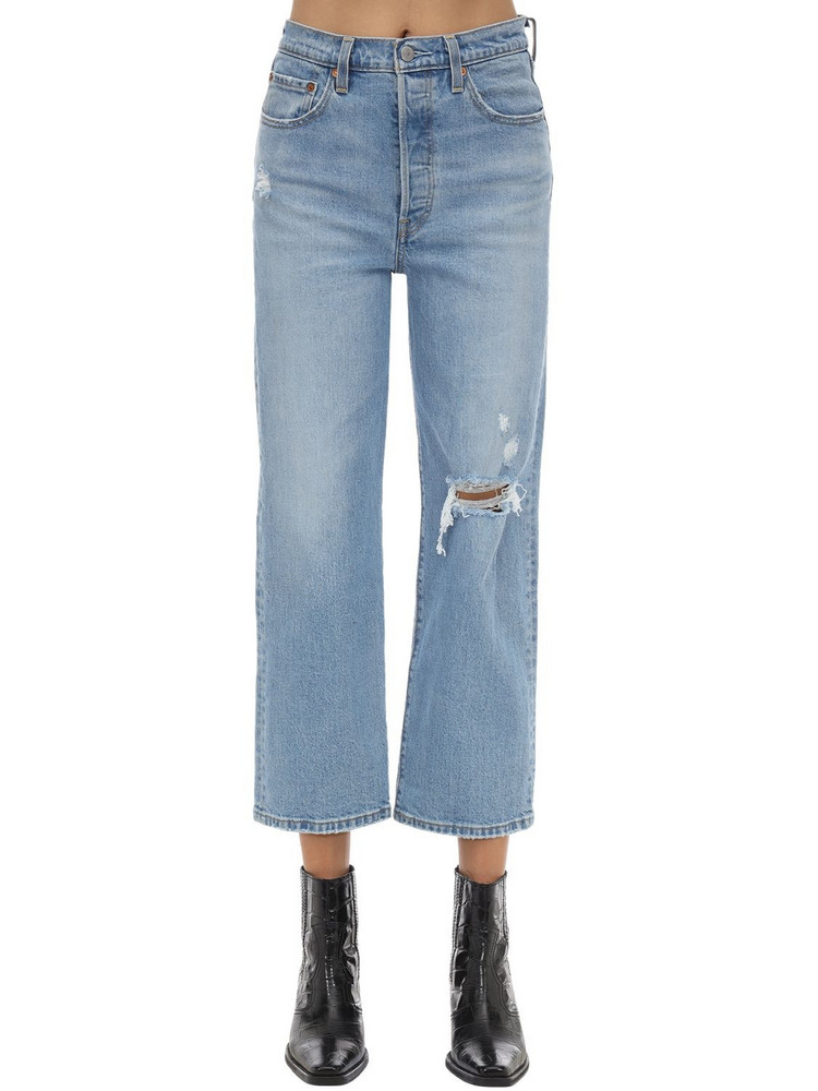 LEVI'S RED TAB Rib Cage Straight Leg Stretch Jeans in blue