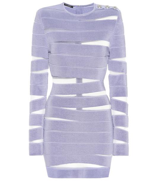 Balmain Bodycon minidress in purple