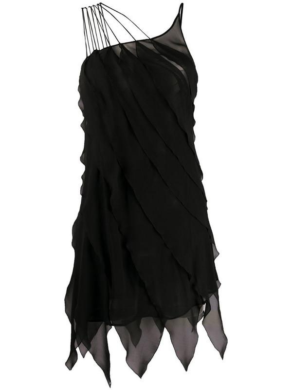 Redemption asymmetric shift dress in black
