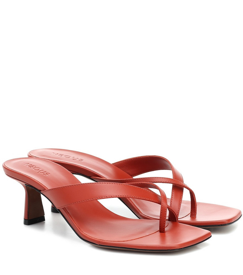 Neous Florae leather sandals in red