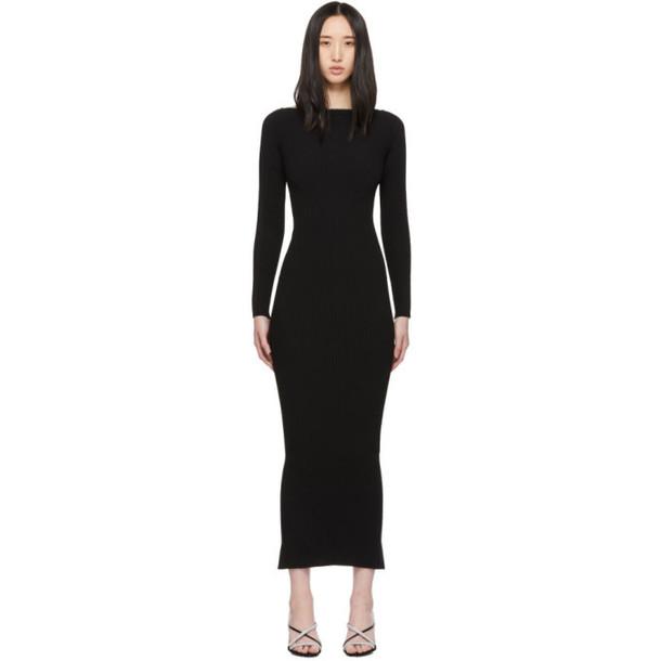 Alexander Wang Black Moving Rib Splittable Dress