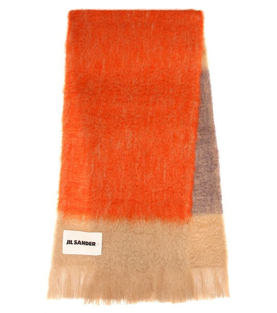 Jil Sander Mohair and wool scarf