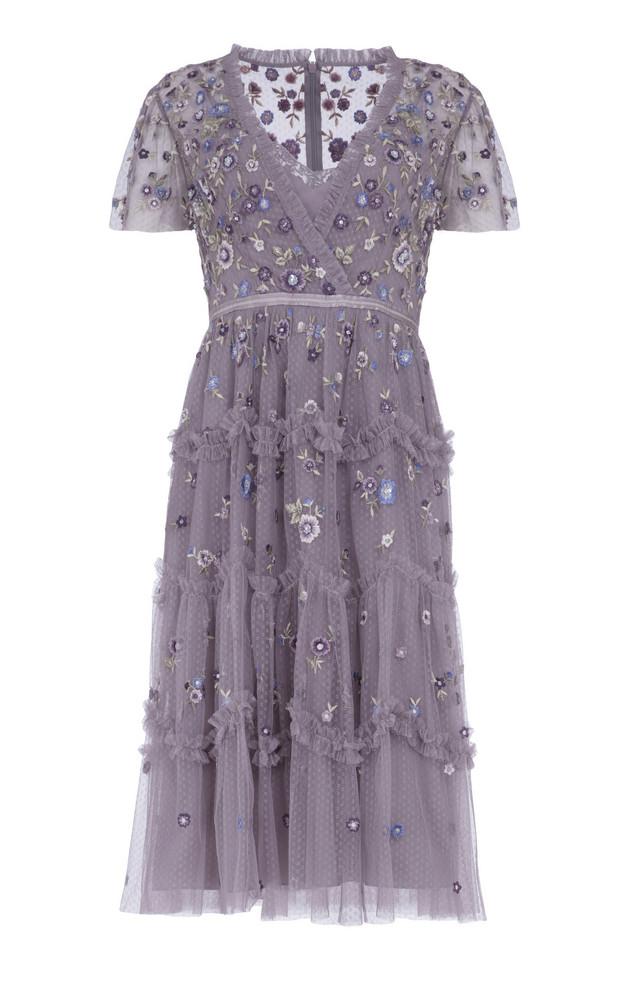 Needle & Thread Prairie Flora Dress in purple