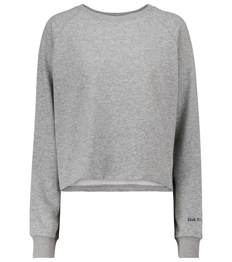 Adam Selman Sport Stretch-cotton cropped sweatshirt in grey