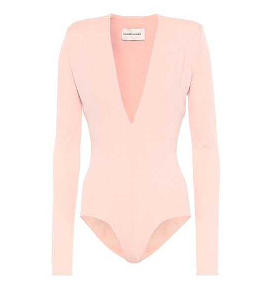 Alexandre Vauthier Stretch jersey bodysuit in pink