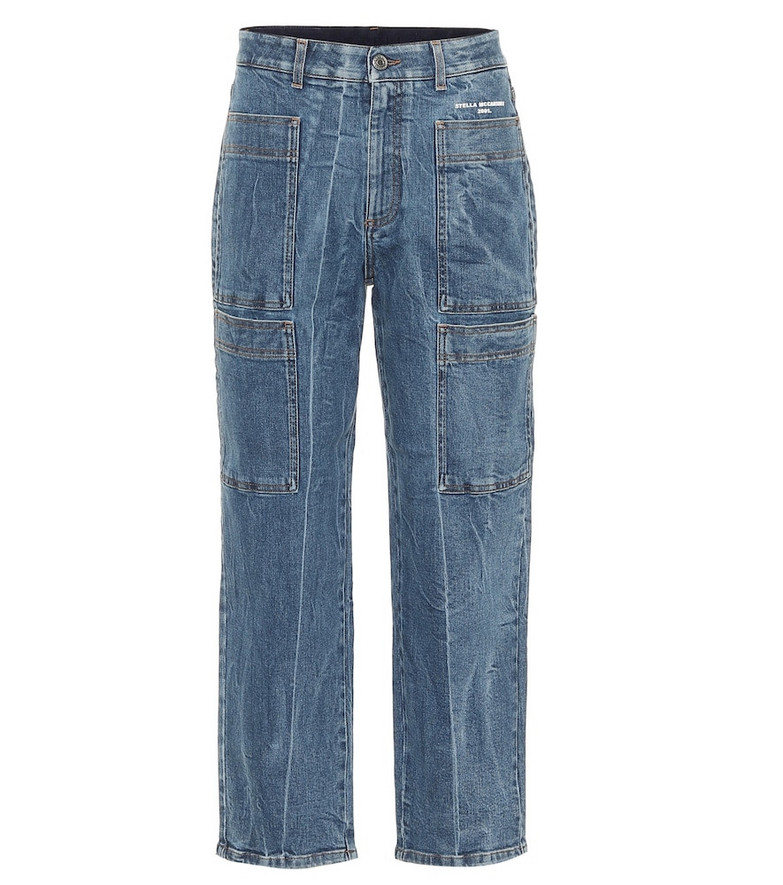Stella McCartney High-rise carrot leg jeans in blue
