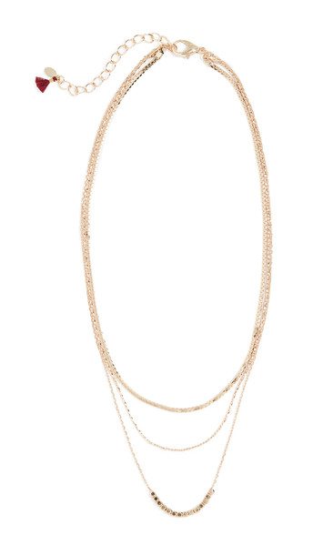 Shashi Chicago Necklace in gold