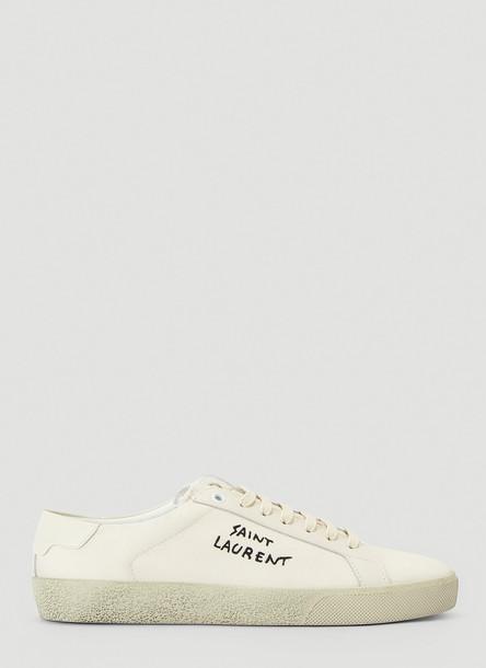 Saint Laurent Court Classic Logo Sneakers in White size EU - 37.5